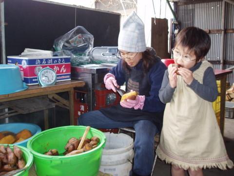 その蒸したてのお芋をどんどん?食べていくのは、幼児の役目です!