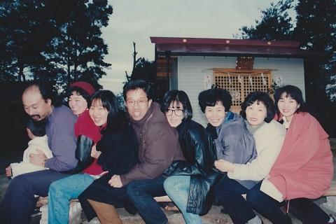 木の花創立前のまりちゃん(中央)といさどん(左)