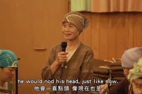 日本語であーちゃんに語りかけるえいこばあちゃん