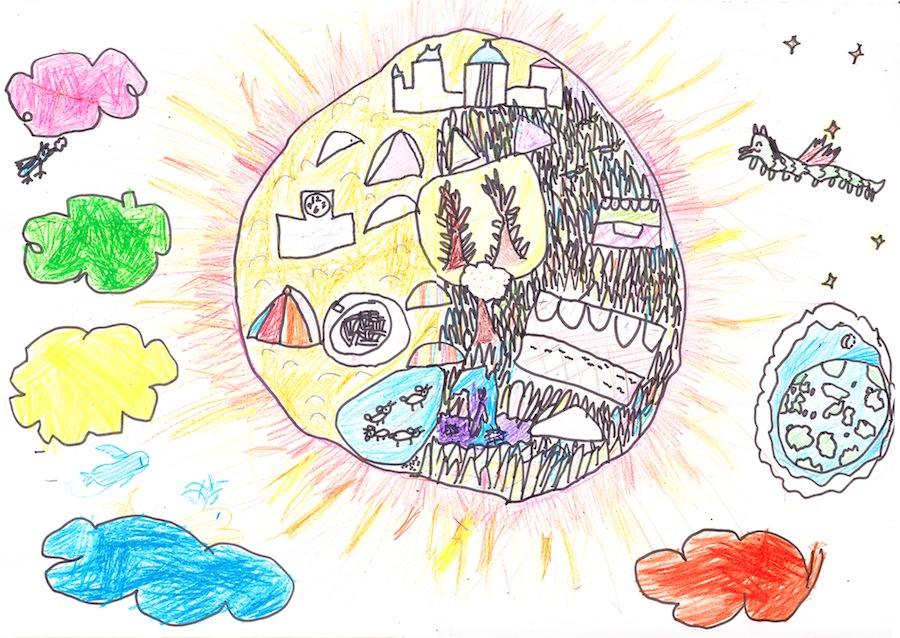 ひみこが描いた『太陽の世界のたのしいくらし』